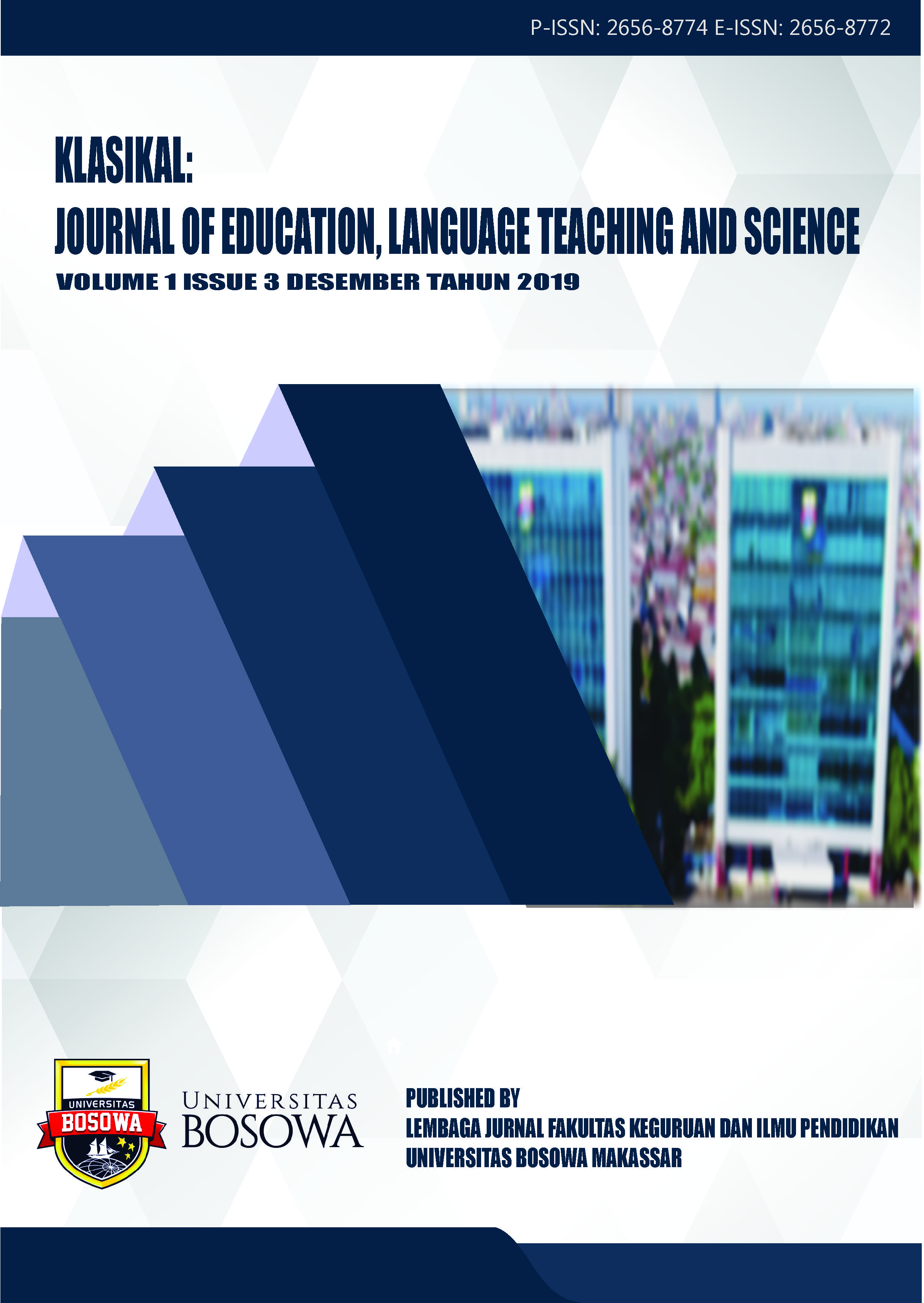 View Vol. 1 No. 3 (2019): Klasikal: Journal of Education, Language Teaching and Science